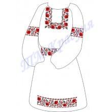 """Заготовка дитячого плаття під вишивку """"Орнамент з троянд"""""""
