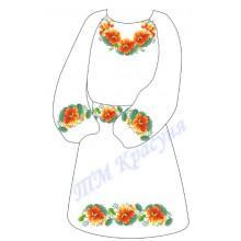 """Заготовка дитячого плаття під вишивку """"Незвичайні квіти"""""""