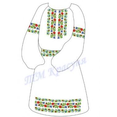 """Заготовка дитячого плаття під вишивку """"Орнамент з квітів"""""""