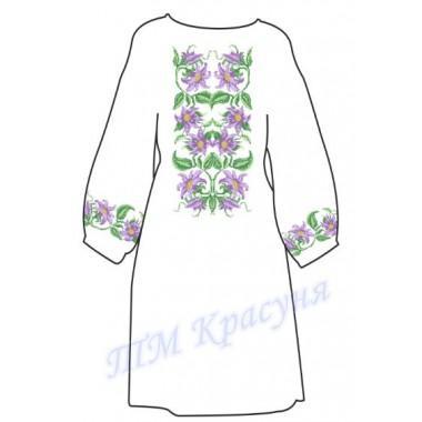 """Заготовка дитячого плаття під вишивку """"Фіолетові квіти"""""""