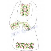 """Заготовка дитячого плаття під вишивку """"Переплетені квіти"""""""