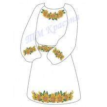 """Заготовка дитячого плаття під вишивку """"Соняшники"""""""