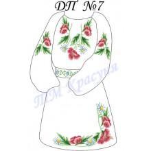 """Заготовка дитячого плаття під вишивку """"Чарівні квіти"""""""