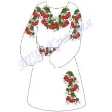 """Заготовка дитячого плаття під вишивку """"Червона горобина"""""""