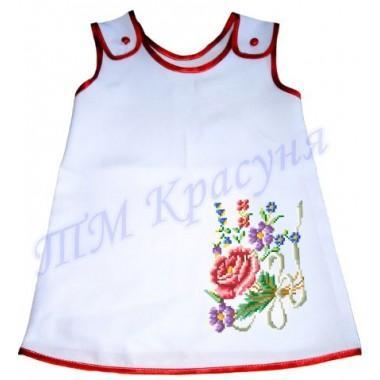 """Зшита заготовка дитячого плаття """"Квіточки"""""""
