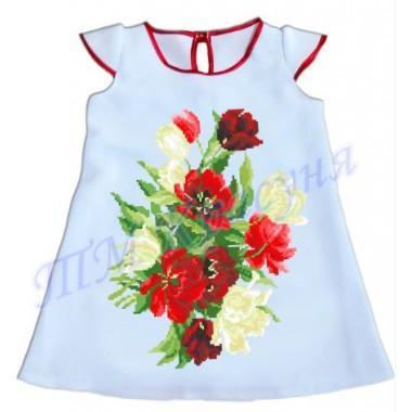 """Зшита заготовка дитячого плаття """"Пишні квіти"""""""