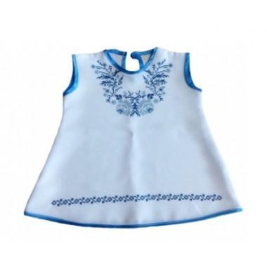 """Зшита заготовка дитячого платтячка для самих маленьких """"Сині квіточки"""" (до року)"""