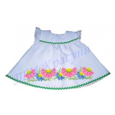 "Зшита заготовка дитячого платтячка для самих маленьких ""Квіточки"" (до року)"