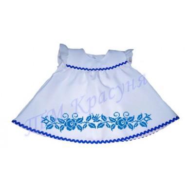 """Зшита заготовка дитячого платтячка для самих маленьких """"Синій орнамент"""" (до року)"""