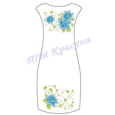 """Заготовка плаття під вишивку бісером """"Пишні блакитні квіти"""""""