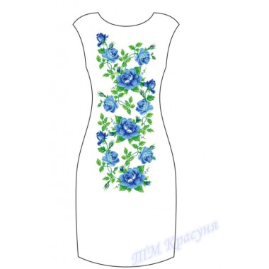 """Заготовка плаття під вишивку бісером """"Блакитні троянди"""""""