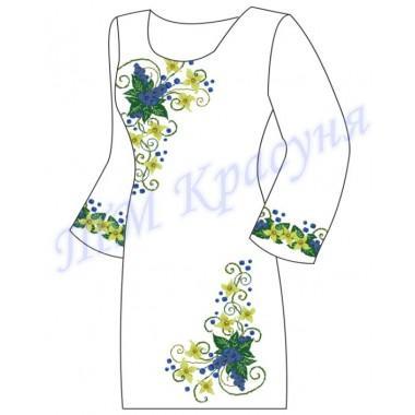 """Заготовка плаття під вишивку бісером """"Квіткова абстракція"""""""