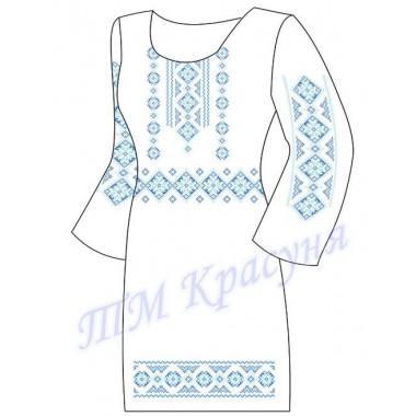 """Заготовка плаття під вишивку бісером """"Класичний орнамент"""" (блакитний)"""