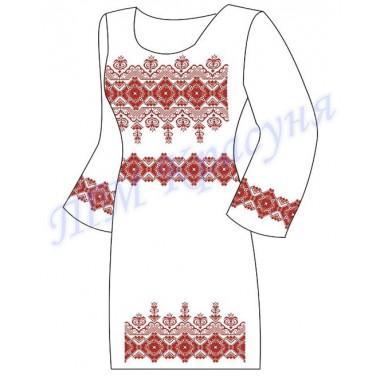 """Заготовка плаття під вишивку бісером """"Класичний орнамент"""" (червоний)"""