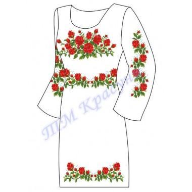 """Заготовка плаття під вишивку бісером """"Троянди"""""""