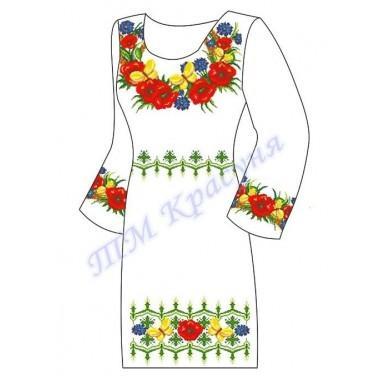 """Заготовка плаття під вишивку бісером """"Квіти з метеликами"""""""