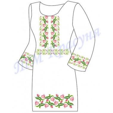 """Заготовка плаття під вишивку бісером """"Переплетені квіти"""""""