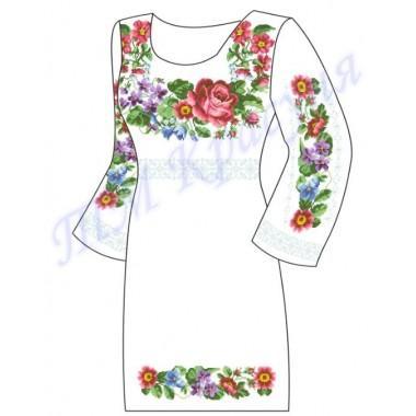 """Заготовка плаття під вишивку бісером """"Весняні квіти"""""""