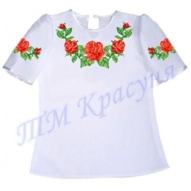 """Пошита заготовка дитячої блузки під вишивку """"Троянди"""""""