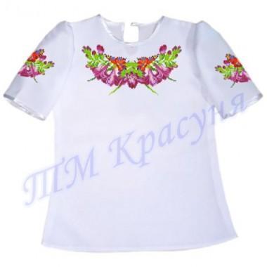 """Пошита заготовка дитячої блузки під вишивку """"Дзвіночки та метелики"""""""