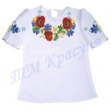 """Пошита заготовка дитячої блузки під вишивку """"Дари літа в орнаменті"""""""