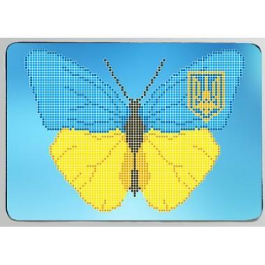 """Заготовка обкладинки на паспорт """"Патріотичний метелик"""""""