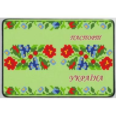 """Заготовка обкладинки на паспорт """"Орнамент з квітів"""""""