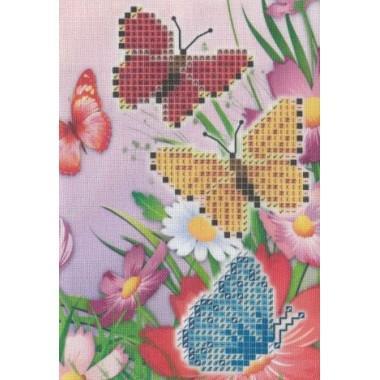 """Заготовка обкладинки на паспорт """"Метелики"""""""