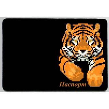 "Заготовка обкладинки на паспорт ""Тигр"""