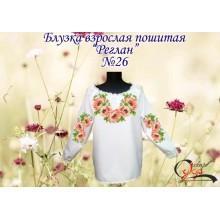 """Пошита заготовка жіночої блузки """"Пишний цвіт маків"""""""