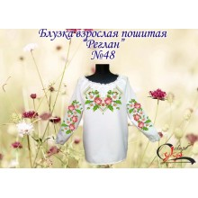 """Пошита заготовка жіночої блузки """"Квіти в орнаменті"""""""
