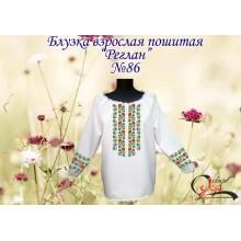 """Пошита заготовка жіночої блузки """"Орнамент з квітів"""""""