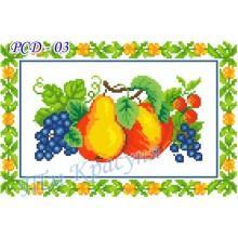 """Заготовка дитячого рушника на свято Спаса під вишивку """"Яблука, виноград та суниці"""""""