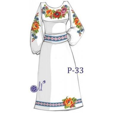 """Заготовка плаття під вишивку """"Літній букет"""""""
