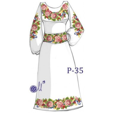 """Заготовка плаття під вишивку """"Квіткове розмаїття"""""""