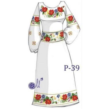 """Заготовка плаття під вишивку """"Польовий букет"""""""