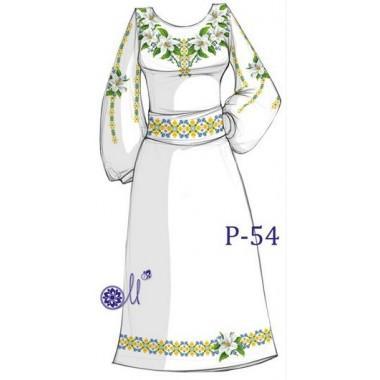 """Заготовка плаття під вишивку """"Ніжні лілії"""""""