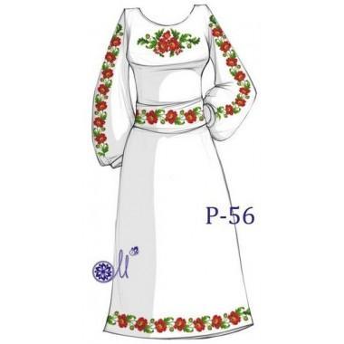 """Заготовка плаття під вишивку """"Макова стежина"""""""
