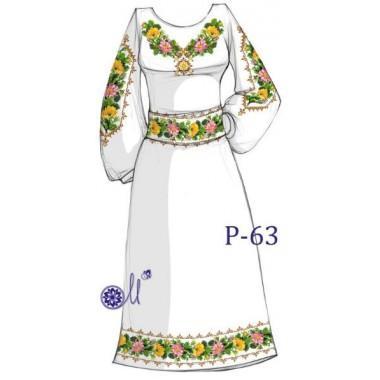 """Заготовка плаття під вишивку """"Кольє з квітів"""""""
