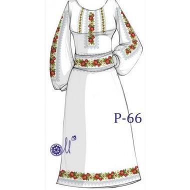 """Заготовка плаття під вишивку """"Макове поле"""""""