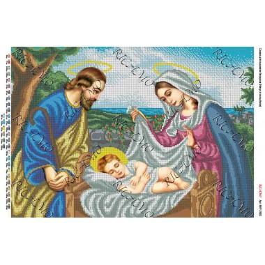 """Схема ікони для вишивки бісером """"Иисус в колыбели"""" (А2)"""