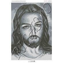 """Схема ікони для вишивки бісером """"Лик Иисуса Христа"""" (А2)"""
