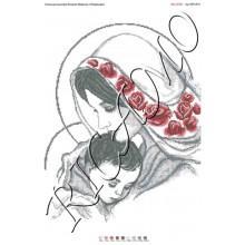 """Схема ікони для вишивки бісером """"Мадонна с Младенцем"""" (А2)"""