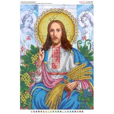 """Схема ікони для вишивки бісером """"По мотивам А.Охапкина «Ісус Христос»"""" (А2)"""