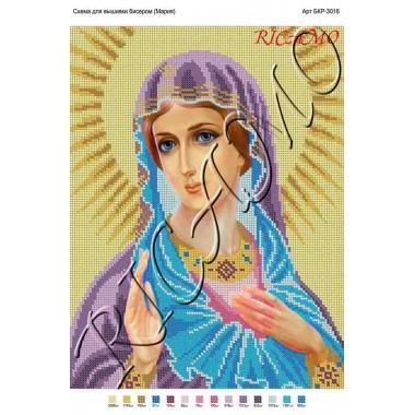 """Схема ікони для вишивки бісером """"Марія"""" (А3)"""