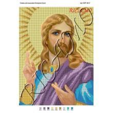 """Схема ікони для вишивки бісером """"Ісус"""" (А3)"""