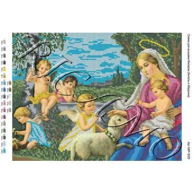 """Схема ікони для вишивки бісером """"Ангели і Мадонна"""" (А3)"""
