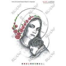 """Схема ікони для вишивки бісером """"Мадонна с Младенцем"""" (А3)"""