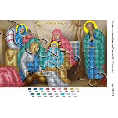 """Схема ікони для вишивки бісером """"Образ Пресвятой Богородицы Державная"""""""
