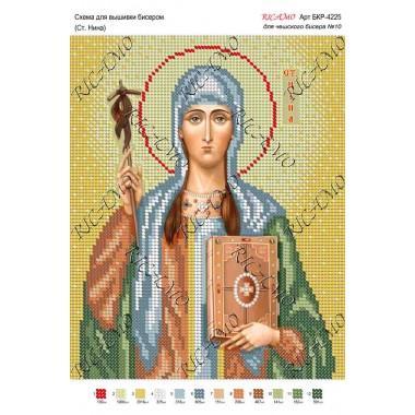 """Схема ікони для вишивки бісером """"Св. Нина"""""""